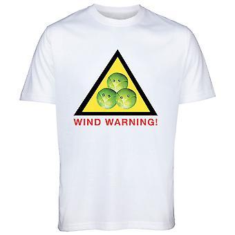 Ветер предупреждение Брюссельская капуста Рождество тенниска