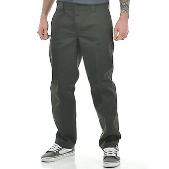 Dickies Olive Green Slim Straight Workpants