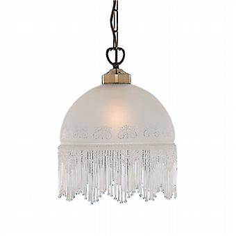 Searchlight 900-10AC Victoriana 1 Light Ceiling Pendant