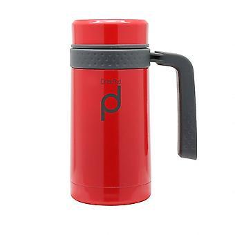 White Pioneer Vacuum Capsule 0.45ml Mug Flask with Handle
