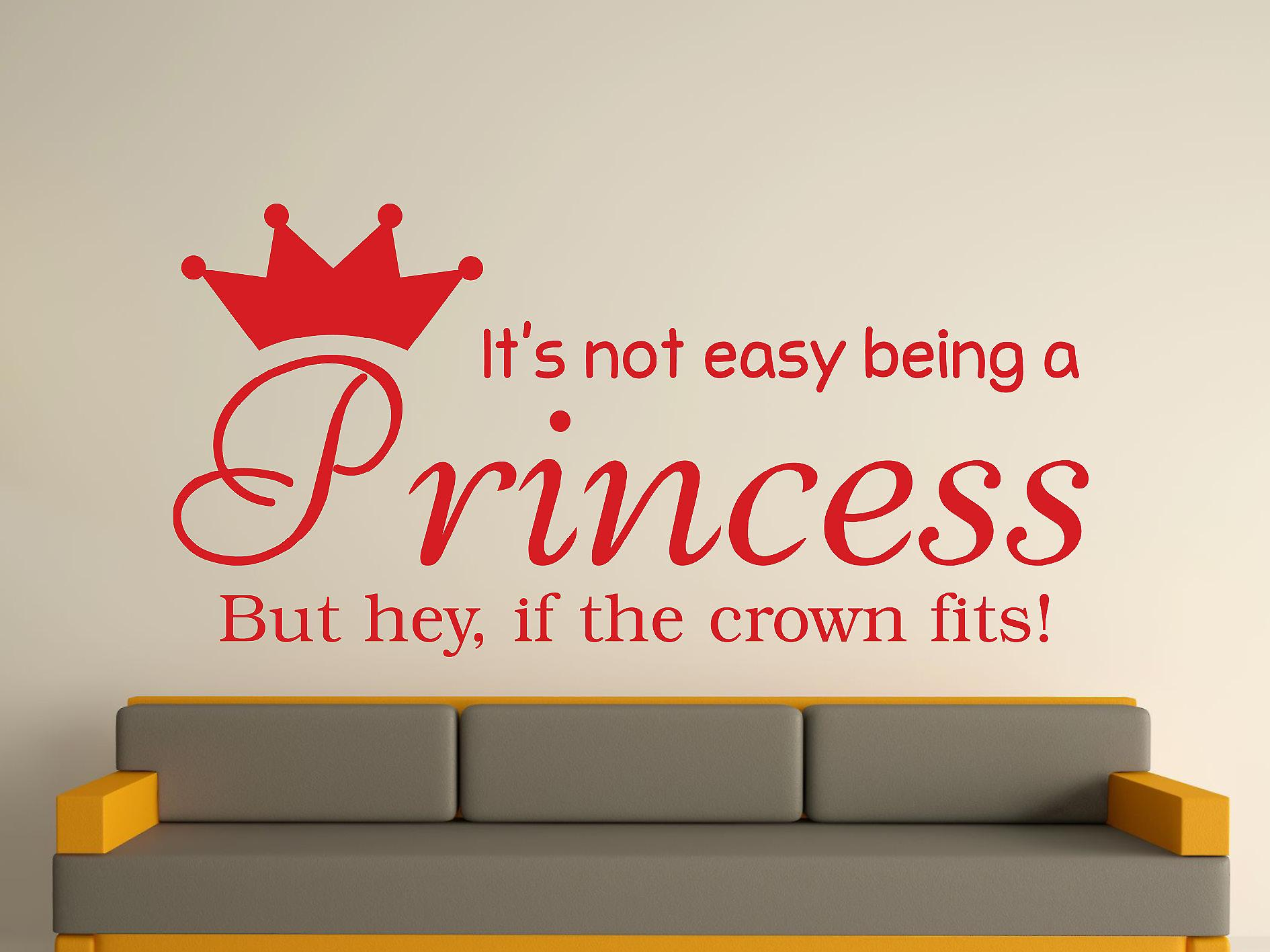Being A Princess Wall Art Sticker - Cherry Red