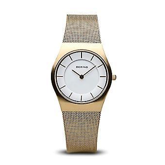 Bering analoog quartz vrouw horloge met RVS band 11930-334
