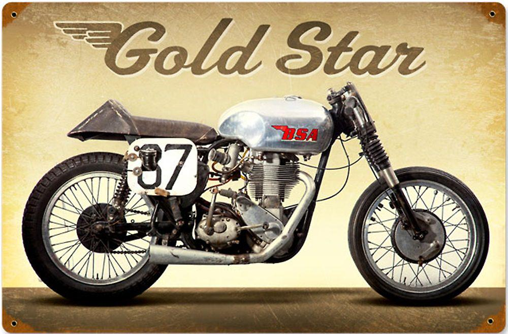 BSA Goldstar rusted steel sign  (pst 1812)