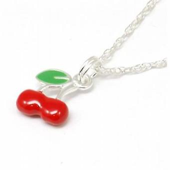 The Olivia Collection Sterling Silver Cherry Pendant on 18 Inch Chain