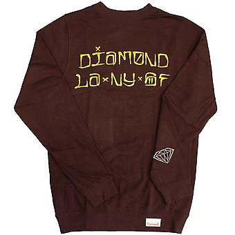 Diamond Supply Co Städer Crew Burgundy