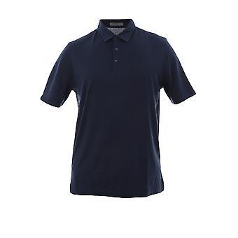 Corneliani Blue Cotton Polo Shirt