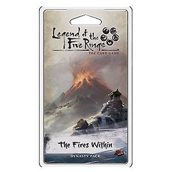 Legend of the Five Rings TCG The Fires Within Dynasty Pack Card Game