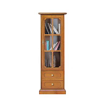 Classic style display cabinet with drawers