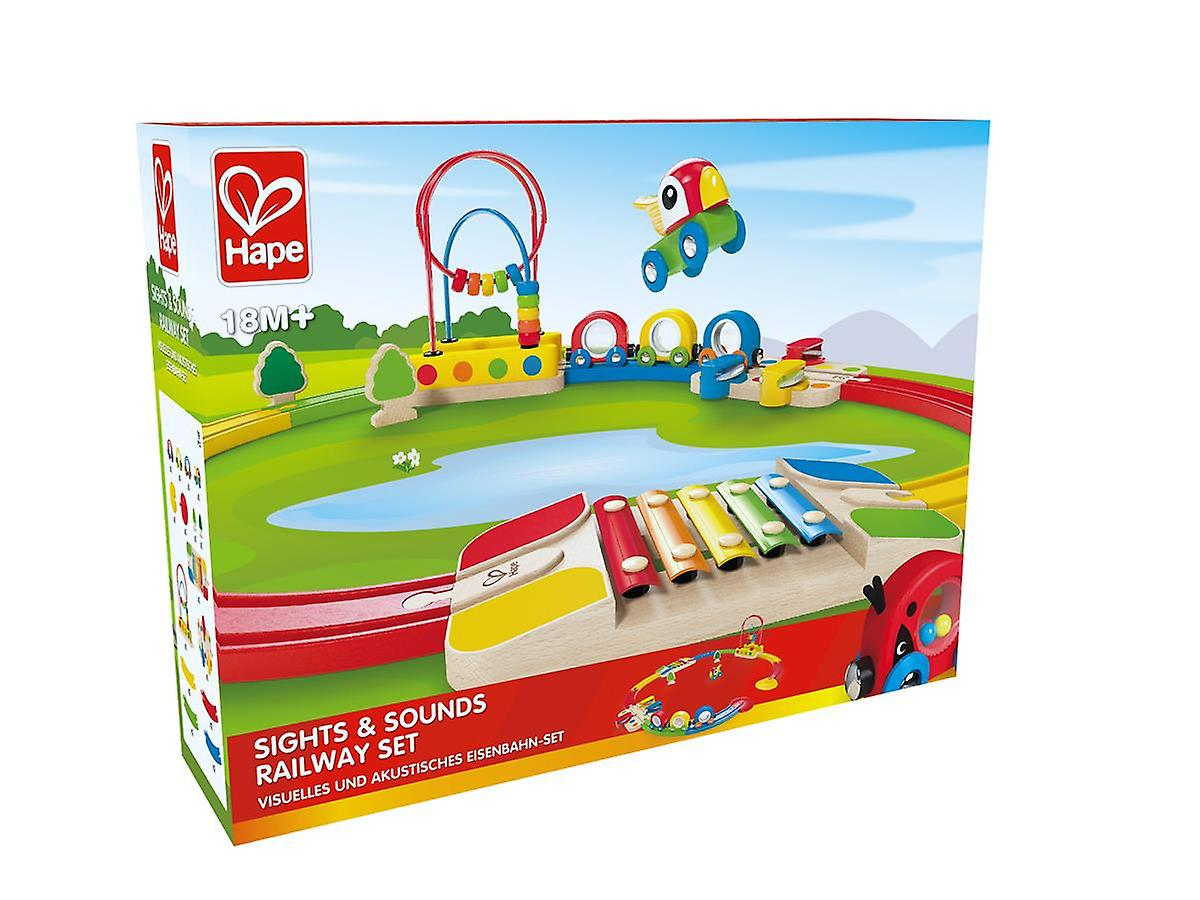 Hape - Sights & Sounds Railway Set - Houten trein