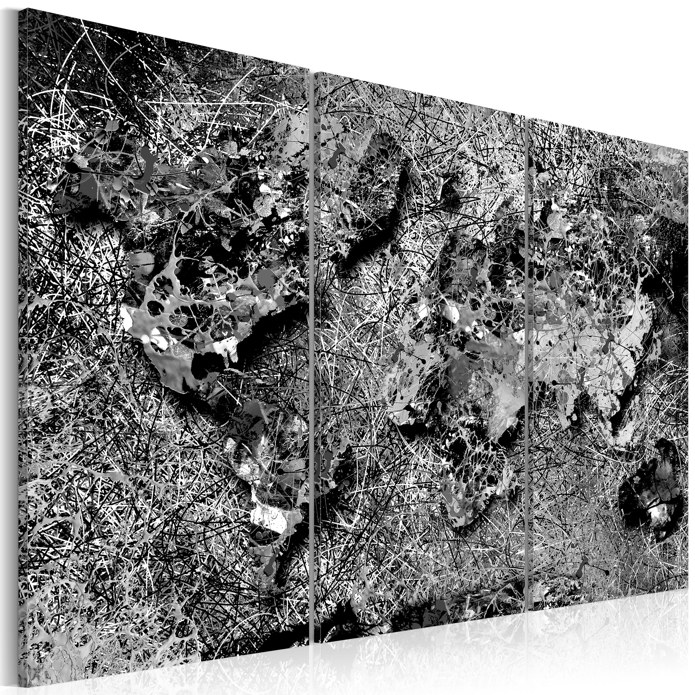 Tableau -  World Map  gris Thread