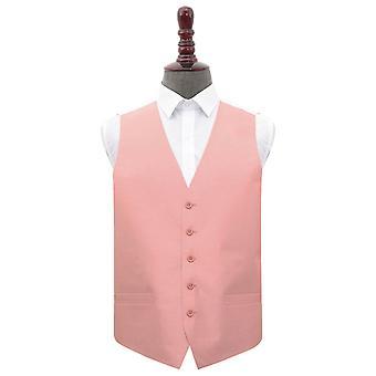 Peach Pink Shantung Wedding Waistcoat