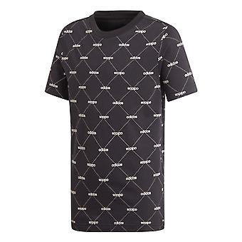 adidas Core Favourites Junior Kids Short Sleeve T-Shirt Tee Black