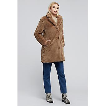 Louche Wainwright Faux Fur Coat Brown