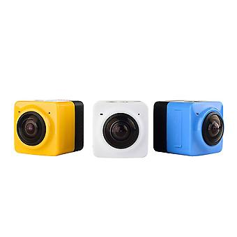 Mini wifi 360 degree panoramic wide angle action camera sports cam recorder with standard 1/4 screw interface - white