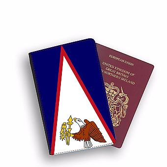 AMERICAN SAMOA Flag Passport Holder Style Case Cover Protective Wallet Flags design