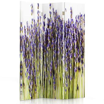 Room Divider, 3 Panels, Single-Sided, Canvas, Lavender Kepka