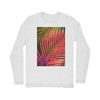 Colorful tropical leaves no4 classic long sleeve t-shirt