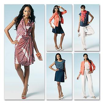 Misses' Unlined Jacket, Top, Dress, Skirt And Pants  A5 6  8  10  12  14 Pattern M6519  A50