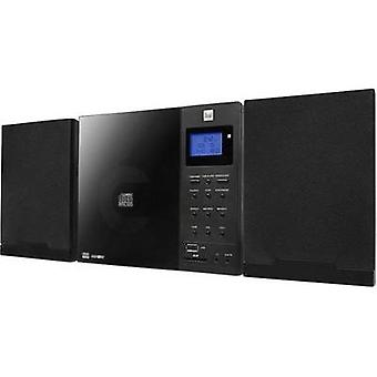 Audio system Dual DAB 102 AUX, CD, DAB+, SD, FM, USB, Wall mount brackets Black
