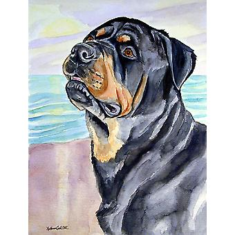 Rottweiler Flag Canvas House Size