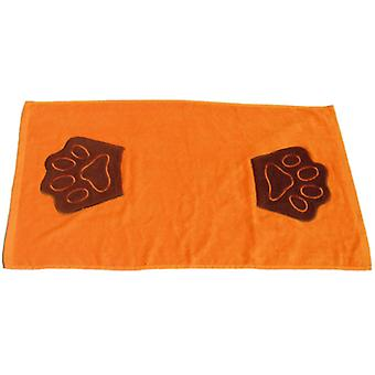 Freedog Orange footprint towel 85x50cm (Dogs , Grooming & Wellbeing , Towels & Bathrobes)