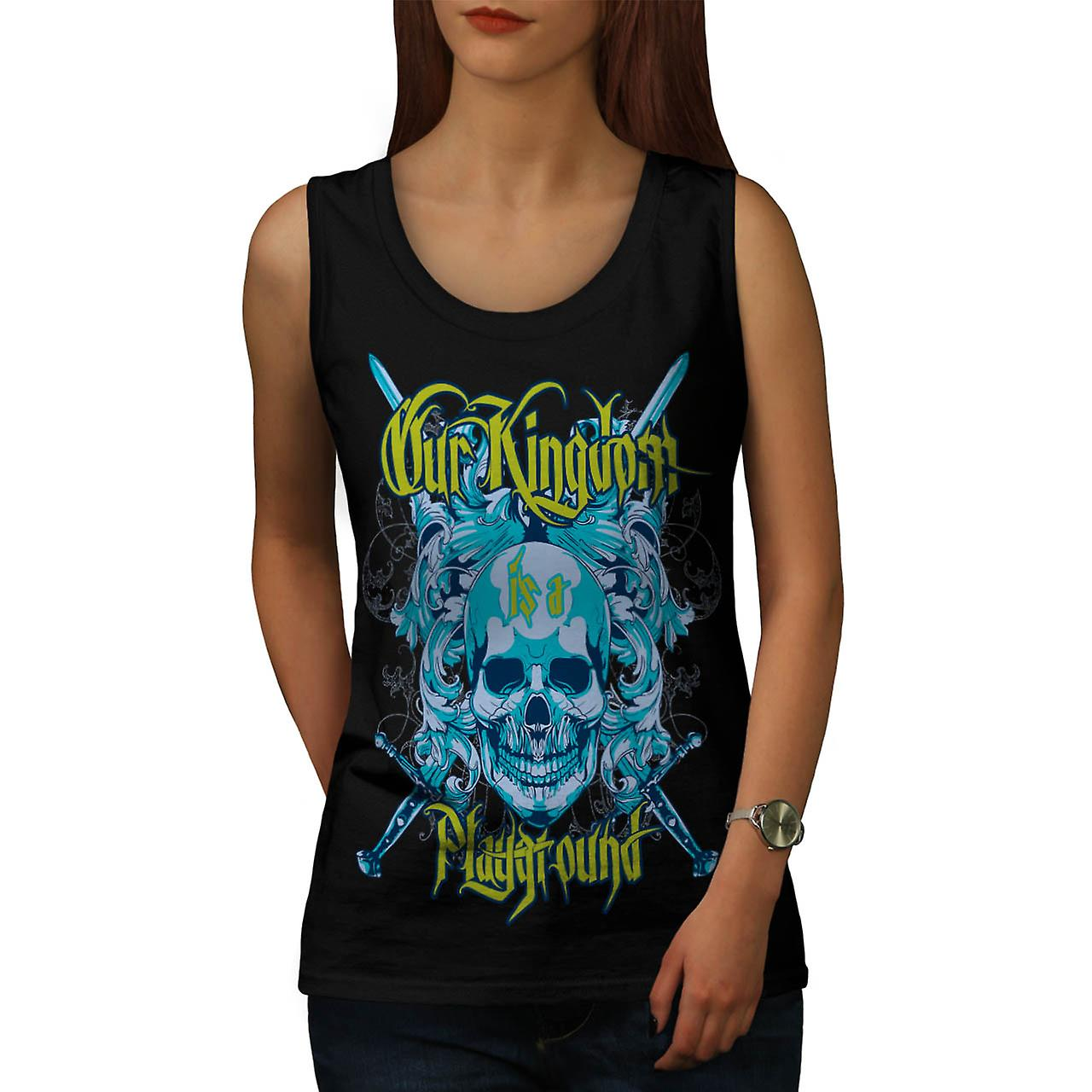 Kingdom Play Ground Monster Game Women Black Tank Top | Wellcoda