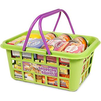 Casdon Shopping Basket With Food