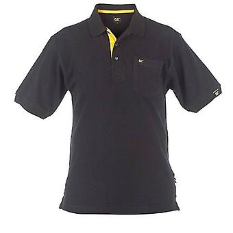Caterpillar C030 Men Polo Shirt Breathable Cotton 3 Button Placket Male Clothing