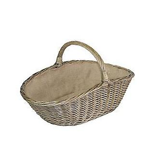 Small Antique Wash Harvesting Wicker Basket