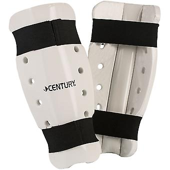 Century Kid's Martial Arts Student Sparring Shin Guards - White-karate taekwondo