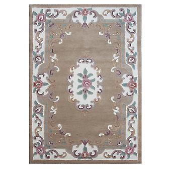 Wool Semi Circle Traditional Rug Beige Imperial