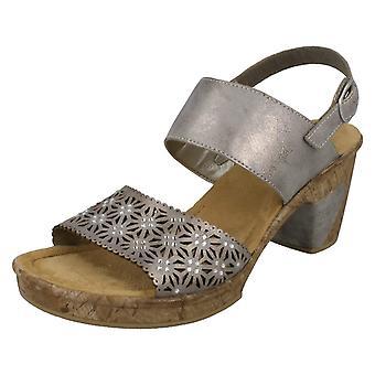 Damen Rieker Double Block Heel Sandalen 69730