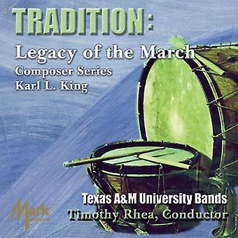 Texas en & M University Wind Symphony & symfoniske forbud - Tradition: arven fra marts komponist serie - Karl L. King [CD] USA import
