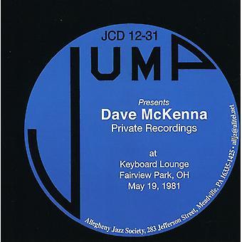 Dave McKenna - Private optagelser-på tastaturet Lounge Fairview Par [CD] USA import