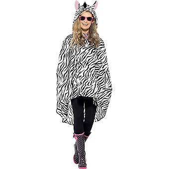 Costume Zebra partito poncho Zebra poncho impermeabile costume di Festival