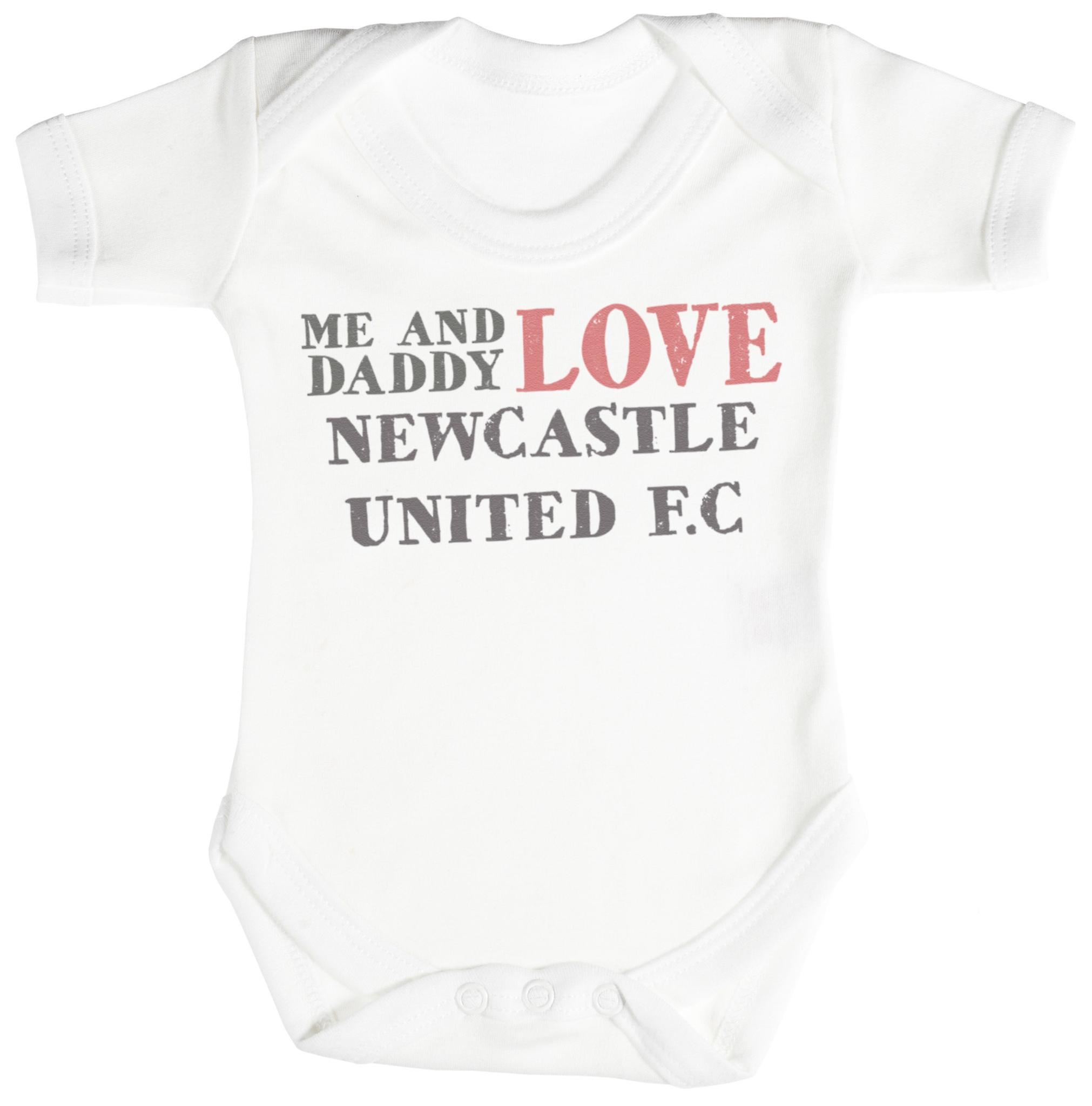 Me & Daddy tekst Love Newcastle United Baby Romper / Babygrow