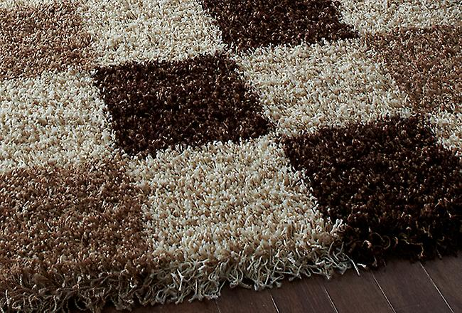 Vista - Pattern  2247 Check A tonal beige square design with a slight fleck effect Rectangle Rugs Modern Rugs