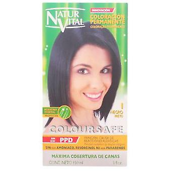 Naturaleza y Vida Coloursafe Dye Permanent 1-Black 150 ml (Hair care , Dyes)