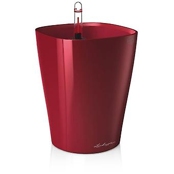 Lechuza Flowerpot Deltini Premium Scarlet Red High-Gloss
