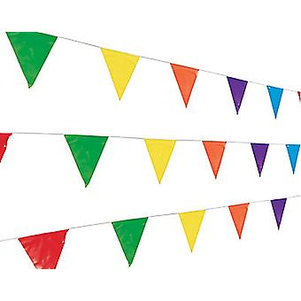 BULK 1000m Bright Colour Polythene Bunting Collection