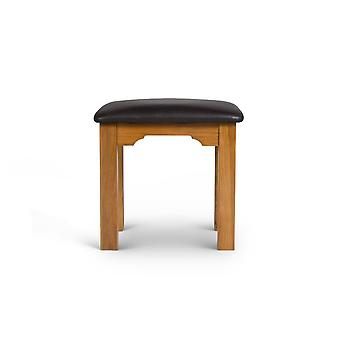 Direct Home Living Oak Stool With Faux Leather