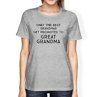 Promoted To Great Grandma Shirt Womens Funny Saying Grandma Gifts