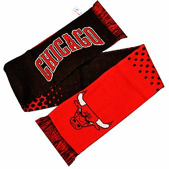 Chicago Bulls Official NBA Crest Design Fade Scarf