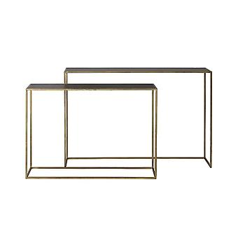 Light & Living Console S/2 100x25x70+120x25x80 Cm BOCA M.black Wash-gold