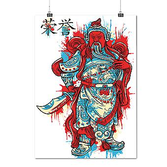Matte or Glossy Poster with Cool Japan Knight Fantasy | Wellcoda | *d1279