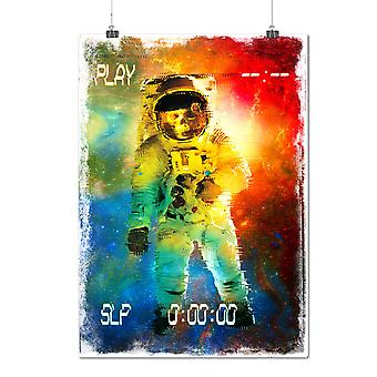 Matte or Glossy Poster with Space Skull Astronaut | Wellcoda | *d2011