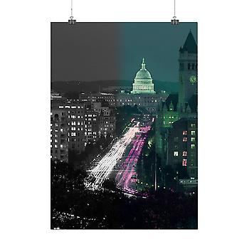 Matte or Glossy Poster with Washington Street Fashion | Wellcoda | *q180