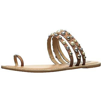 Steve Madden Womens Ramsie Leather Open Toe Casual Slide Sandals