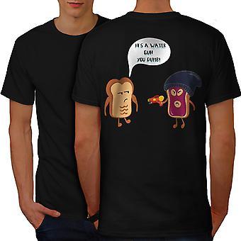 Food Joke Men BlackT-shirt Back | Wellcoda