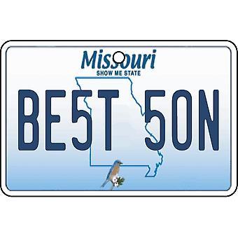 Missouri - Best Son License Plate Car Air Freshener